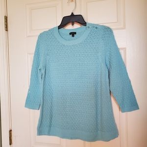 Talbots Textured Knit Cotton Sweater